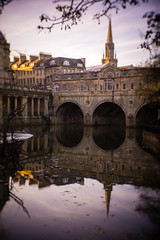 Bath (peterchilds93) Tags: bath somerset reflection sand stonew buildings old river avon city sun light bridge tunnel pillars branches tree sony alpha a6000 cctv lens chinese