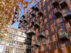 'Shadows and light on a red-brick facade with balconies' - Amsterdam photos, Dutch modern architecture, a view in the sunlight of early Fall - geotagged free urban picture, in public domain / Commons CCO; city photography, Fons Heijnsbroek (Amsterdam photos, pictures, foto's.) Tags: modernarchitecture arcitecture dutcharchitecture sunlight lightandshadows facade brickfacade building modernbuilding rresidentialbuilding dutch amsterdam architecture colored colorful bluesky photo picture image pic urban publicdomain publiekdomein nocopywright freedownload freeprint printforfree fonsheijnsbroek ccophotography freephotos photofree opensourcephotos geotagged thenetherlands photographer dutchphotographer urbanphotographer urbanphotoart urbanphoto dutchphoto dutchphotography urbanphotography commons cc photography amsterdamcity outdoor impression highresolution goodquality printfree cco photosamsterdam fotoamsterdam amsterdamphotos amsterdamfoto amsterdampictures