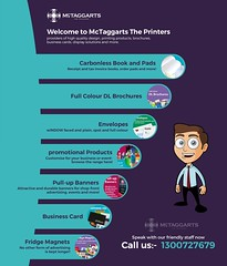 Welcome to McTaggarts The Printers - McTaggarts.Biz (McTaggarts The Printers) Tags: brochures flyers businesscards calendars carbonlessbookspads cheques envelopes magazines posters presentationfolders stationery stickers