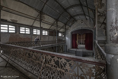 Showtime! (Kristel van de Laar Photography) Tags: abandoned theatre decay beauty belgium beautiful urbex balcony happy indoor iron photography happiness stairs fun laughter movies curtains
