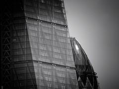 Subliminal (Douguerreotype) Tags: monochrome leadenhallbuilding cheesegrater buildings cityscape two window city bw 2 uk geometry british mono gherkin blackandwhite architecture britain england gb geometric london urban glass