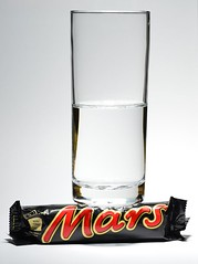Water on Mars! (cnmark) Tags: wateronmars water mars sensational scientific breakthrough candy bar closeup tabletop photo joke fun ©allrightsreserved