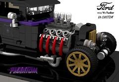 Ford 1932 Custom Tudor V8 - The Phantom (lego911) Tags: ford 1932 1930s classic v8 tudor phantom custom kustom usa america auto car moc model miniland lego 911 ldd render cad povray lugnuts challenge 109 deuceswild deuces wild lego911