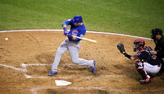 Photo of the Day Project, Nov. 2, 2016: Cubs outfielder Ben Zobrist prepares to swing at a pitch during World Series Game 7. (apardavila) Tags: postseason wordseries baseball benzobrist chicagocubs majorleaguebaseball mlb progressivefield sports worldseries