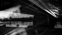 ...forever ... (*ines_maria) Tags: hss sundown sunset contrast light silhoutte city urban monochrome blackandwhite blancetnoire bw waltz dance bridge love couple reichsbrücke danube vienna panasonic dmcgx8