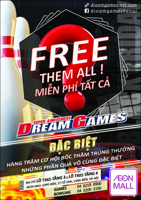 KHUYẾN MẠI ĐẶC BIỆT CÙNG DREAM GAMES