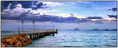 Storm Brewing (juliewilliams11) Tags: outdoor waterfront photoborder water jetty rocks headland storm filter cokon gnd panorama blue grey newsouthwales australia