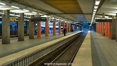 Stockholm Sweden: Vällingby Station, Line T-19 (Green) (nabobswims) Tags: hdr highdynamicrange lightroom linet14 metro nabob nabobswims nikcollection photomatix se sl sonya6000 station stockholm subway sweden tbana telefonplan tunnelbana ubahn vällingby stockholmsiän