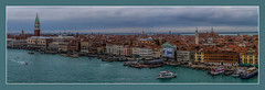 Venice (Kevin, from Manchester) Tags: adriatic architecture building canals canon1855mm dogespalace gondolas hdr harbour historical italy kevinwalker panorama panoramic photoborder stmarkssquare thegrandcanal venice waterways