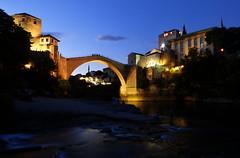 Old bridge - MOSTAR - BOSNA I HERCEGOVINA (Rostam Novk) Tags: night mostar bosna hercegovina bridge old neretva river