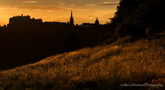 Black & Gold (ajp~) Tags: arthursseat edinburgh edinburghcastle scotland landscape cityskyline city grass trees sunset sunsetlight panorama silhouette clouds sky canon 6d alanjohnstone canon70300mmf456l