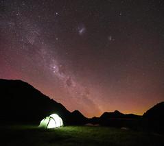 The sky doesn't sleep (danhan27) Tags: stars star night sky milkyway milky way aurora australis auroraaustralis southern lights moke lake astro astrophotography astroscape astronomy dark light reflections camping camp glow sleep queenstown nz newzealand new zealand macpac