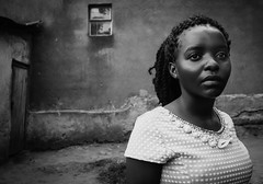 Katwe II (gunnisal) Tags: africa portrait face girl uganda katwe bw blackandwhite gunnisal