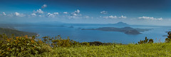 Panorama of Lake Taal & Volcano, Philippines (Ray in Manila) Tags: tagaytay philippines batangas luzon pacific asia volcano lake taal josephines panorama caldera island eos650d efs24mm crater yellowlake landscape ridge