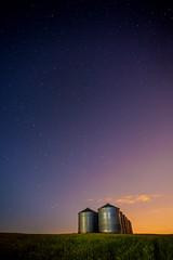 The Stars at Night (stevenbulman44) Tags: canon summer alberta calgary star silo container tripod gitzo violet night outdoor 1740f4l sky