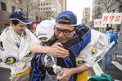 A hug from coach (pjerryhu) Tags: bostonmarathon baa tuftsmarathonteam tmt boston mass unitedstates usa