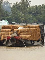 IMG_3350 (program monkey) Tags: vietnam mekong river delta cargo boat ben tre tra vinh coconut color fiber loaded