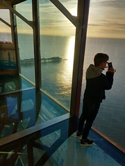 Blackpool Tower Glass viewing area (deanhammersley) Tags: blackpool tower viewing glass panels sunset sea