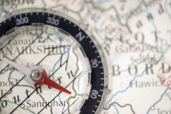 Macro Monday - Arrow (340/366) (AdaMoorePhotography) Tags: arrow nikon d7200 366 compass map atlas scotland red white black macro macromonday 105mm 105mmf28