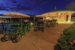 Surrey bikes at sunset (DsnyCpl) Tags: sunset surreybike lamarina coronadospringsresort waltdisneyworldresort teamcanon mefototripods canon1018mm