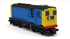 7 wide three quarters (JSDBanner) Tags: lego train set60052 modification instructions diesel brclass20 white background
