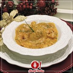 Sorrentino de Abóbora ao Creme de Camarão (Almanaque Culinário) Tags: receita food recipe comida culinária gastronomia