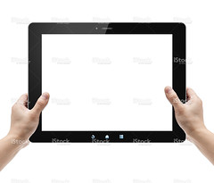 Holding Digital Tablet PC isolated on white - Stock Image (imagesstock) Tags: people holding communication equipment whitebackground blank frame copyspace ideas showing isolated onthemove oneperson touchscreen mobility frontview pictureframe computermonitor concepts palmtop ipad digitalpictureframe designelement  stockimage blackcolor digitaldisplay liquidcrystaldisplay humanhand onemanonly  isolatedonwhite personaldataassistant electronicorganizer globalcommunications informationmedium digitaltablet telecommunicationsequipment  portableinformationdevice