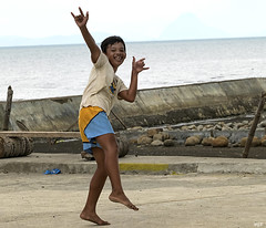 Happy Boy (Beegee49) Tags: city boy playing smiling happy jumping philippines posing running cadiz