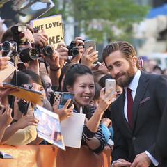 Take with Jake (BruceK) Tags: demolition fans tiff jakegyllenhaal selfie torontointernationalfilmfestival