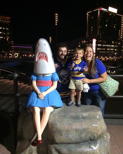 Shark Girl & the Gravells hanging out after the game.
