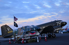 C-47 and A-7 (Spolar Aviation Photography) Tags: sunset dust a7 c47 ticobelle