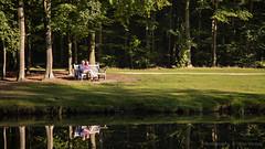 Enjoy the sun ... (Alex Verweij) Tags: people sun sunlight reflection water canon bank enjoy 5d groeneveld zon zonlicht geniet genieten baarn reflectie markiii alexverweij
