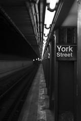 Subway - New York City (jack.mihlenstedt) Tags: dumbo manhattan newyorkcity tamron2470 2470 brooklyn nikon nyc newyork new york subway train blackandwhite bw black white