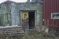 Door in Henningsvr - by Mr. Hmm (Ingunn Eriksen) Tags: door streetart norway lofoten nordland henningsvr vgan mrhmm