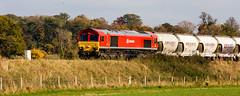 Autumn colour (Peter Leigh50) Tags: autumn trees west train cement shed 66 class dbs langton ews langtons kibworth