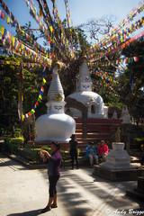 Prayer flags at the lower level of Swayambhu Stupa (Pandster1981) Tags: a77 buddhism honeymoon kathmandu nepal prayerflags sigma1020mmf35exdchsm sonya77 swayambhustupa