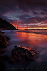 (Andrew Louie Photography) Tags: bridge winter ice beach colors fire golden gate san francisco burn