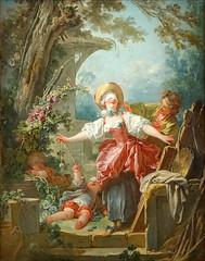Le Colin-Maillard de J.-H. Fragonard (musée du Luxembourg, Paris) (dalbera) Tags: paris france jeu fragonard colinmaillard dalbera muséeduluxembourg