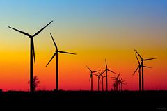 Sunset, Wind Farm (Andy Marfia) Tags: sunset car landscape grid iso100 energy driving power wind indiana farmland f8 turbine renewable 1320sec d7100 1685mm