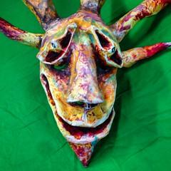 vejigante Leon (rattanicus) Tags: mask papiermache vejigante