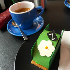 Coffee and a green cake at Zumbo in South Yarra #zumbo