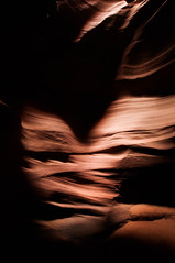 Upper Antelope Canyon Grainy Dec 27 2015 Bear Formation-3390 (houstonryan) Tags: arizona art nature print lens landscape photography utah carved nikon sandstone photographer ryan cut nation houston az canyon tokina erosion upper photograph page antelope navajo redrock slot narrow flashflood 1118mm d300s houstonryan hosutonryan pohtograph