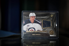 SPx Rookie Materials Mark Scheifele (cdn_jets_cards) Tags: winnipeg mark jets rookie materials 2012 upperdeck spx 2011 scheifele 201112