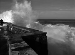Furious Sea (JLL85) Tags: sea bw costa seascape france water agua wave seashore francia biarritz ola