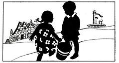 Jack and Jill (katinthecupboard) Tags: silhouettes poems nurseryrhyme mothergoose vintagechildrensillustrations maryellsworth vintagechildrenspoetry ellsworthmary