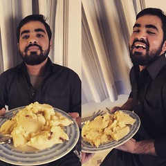 My friend before and after eating Halwa 😁 (Rashdi (RXposure)) Tags: food love germany square fun deutschland essen happiness squareformat nrw pakistani crema halwa mithai süsigkeiten mitfreunden iphoneography instagramapp uploaded:by=instagram