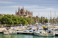 Mallorca, Spain (przemyslawkrzyszczuk) Tags: spain cathedral o yacht mallorca katedra majorka hiszpania jacht