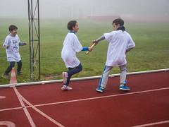 Il cambio fra Alessio Ruffini e Mattia Bettucci