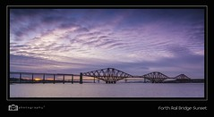 Forth Rail Bridge (mhdigitalphotography) Tags: bridge sunset steel rail forth
