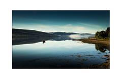 Early Morning on Loch Fyne (muddybootsuk) Tags: lochfyne scotchmist scotland greatbritain muddybootsuk water landscape fishing sea reflections fog morning dawn sunrise bluesky boat